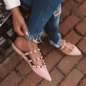 MUST HAVE Stud Flats  - BLUSH